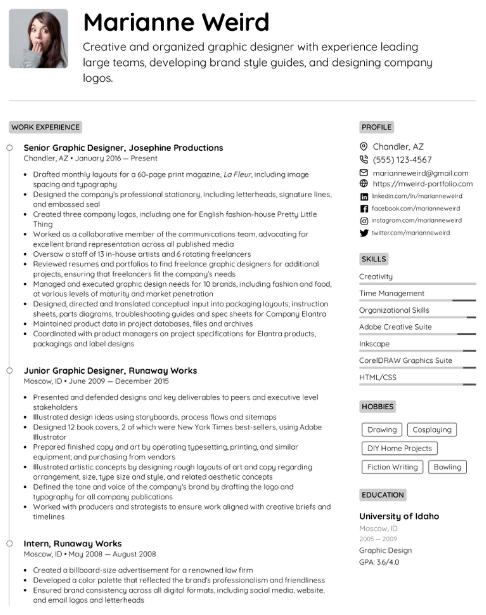 Graphic Designer Resume Sample 3