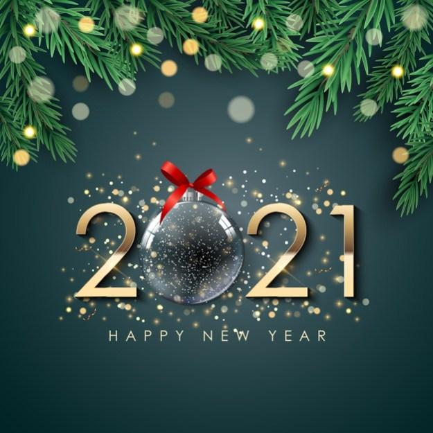 Happy new year background Premium Vector