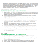 IT Operations Manager Resume Sample 1