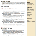 IT Operations Manager Resume Sample 5