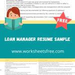 Loan Manager Resume Sample