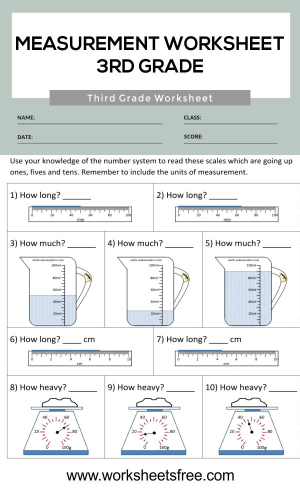 Measurement Worksheet 3rd Grade 1