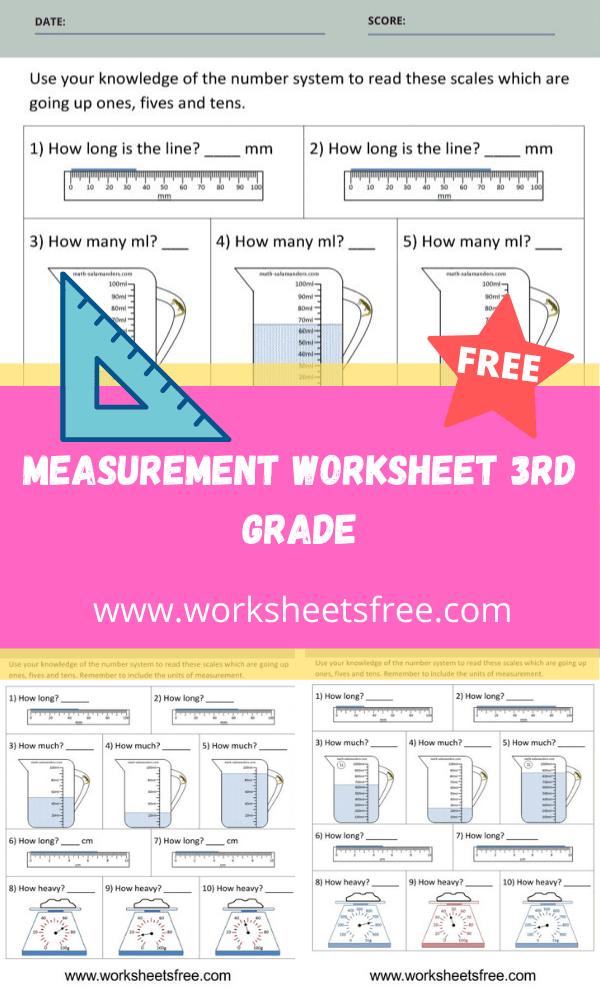 Measurement Worksheet 3rd Grade