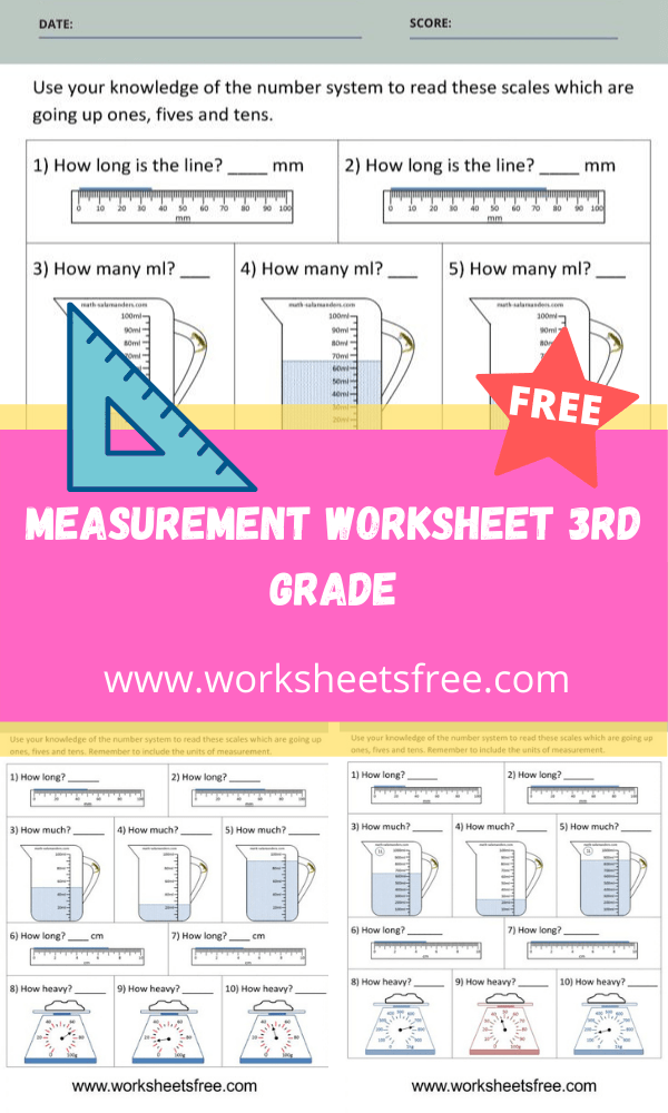 Measurement Worksheet 3rd Grade