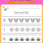 Memorial Day Count and Color Worksheet