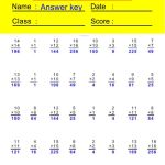 Multiplication Worksheets-Special Series 2