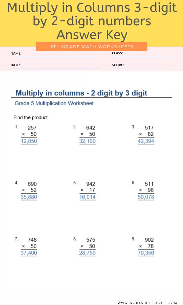 5th Grade Math Worksheets Worksheets Free