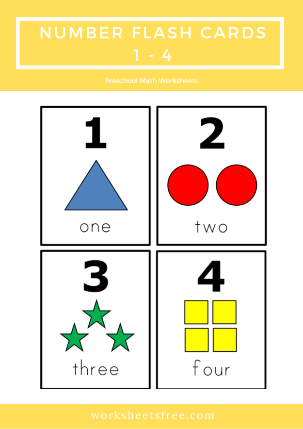 Number Flash Cards 17 - 20