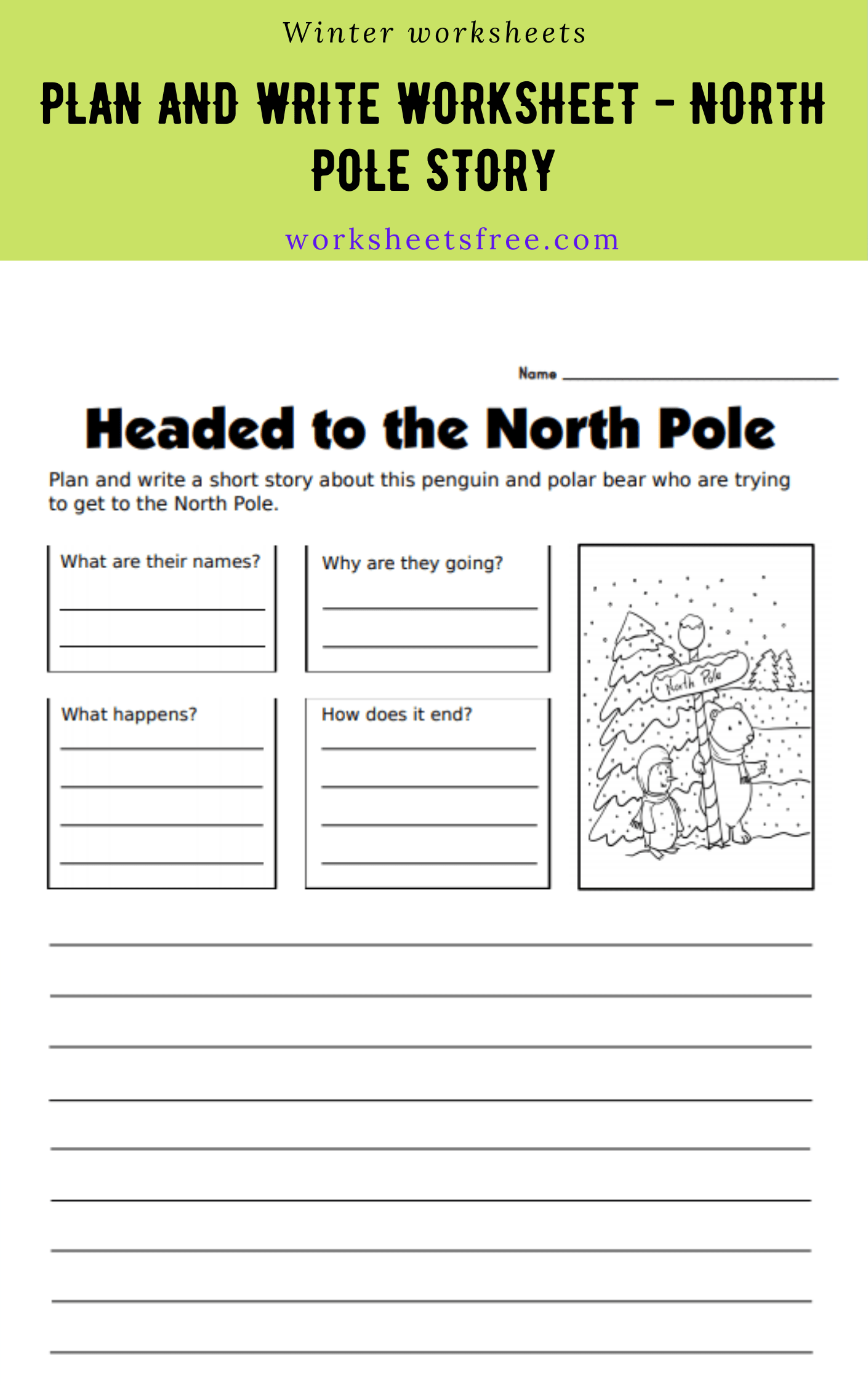 Plan And Write Worksheet