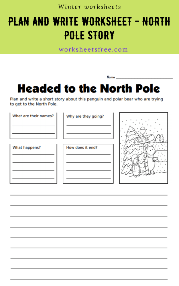 Plan and Write Worksheet - North Pole Story