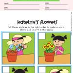 Planting Flowers Sequencing Worksheet