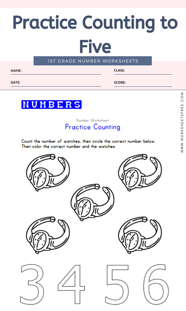 Practice Counting to Five