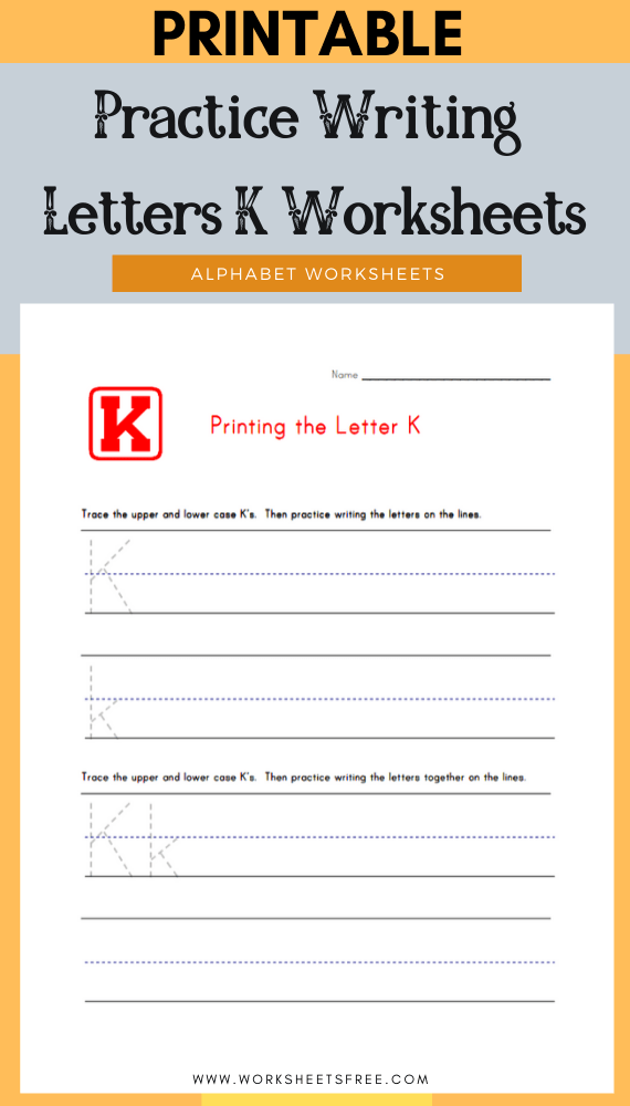Practice-Writing-Letters-K-Worksheets