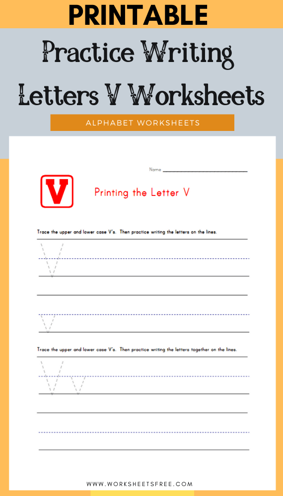 Practice-Writing-Letters-V-Worksheets