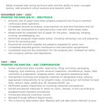 Printer Technician Resume Sample 3