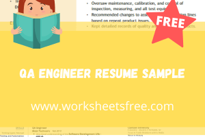 QA Engineer Resume Sample