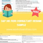 SAP UI5 Fiori Consultant Resume Sample