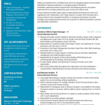 Salesforce CRM Resume Sample 1