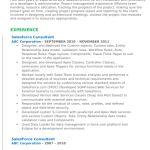 Salesforce CRM Resume Sample 4