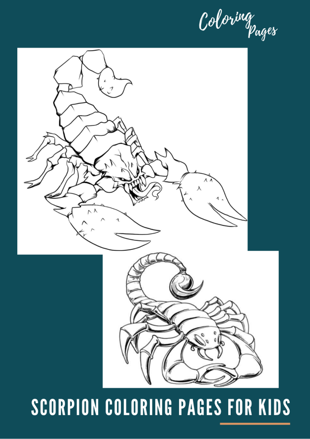 Scorpion Coloring Pages for Kids