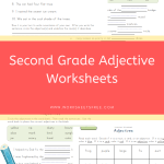 Second Grade Adjective Worksheets