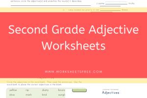 Second Grade Adjective Worksheets