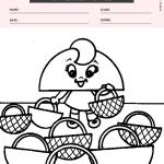 Shapes Coloring Page - half circle shape
