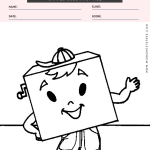 Shapes Coloring Page - shape square