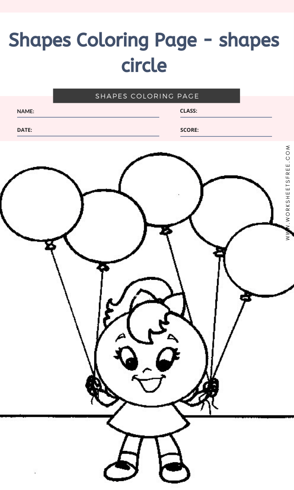 Shapes Coloring Page - shapes circle
