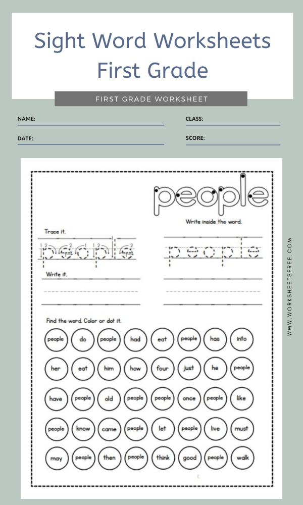 Sight Word Worksheets First Grade 11