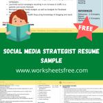 Social Media Strategist Resume Sample