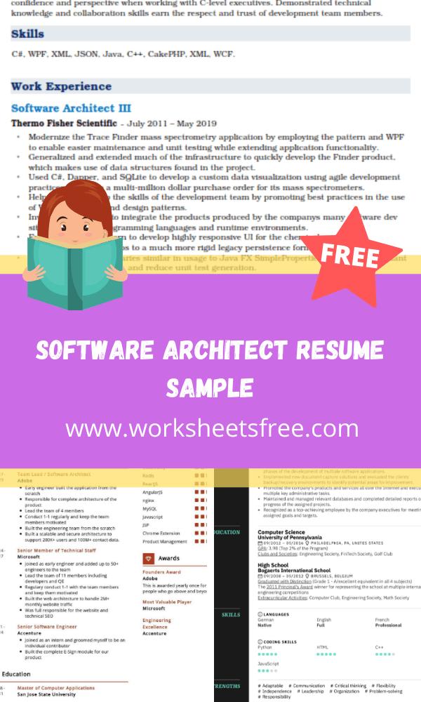 Software Architect Resume Sample