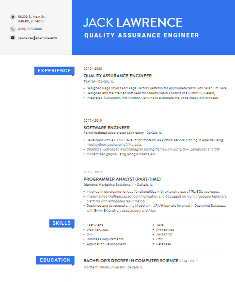 Software Quality Assurance Engineer Resume 3Software Quality Assurance Engineer Resume 3
