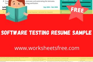 Software Testing Resume Sample