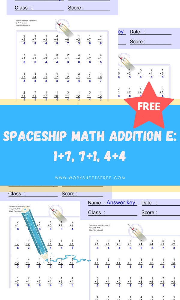 Spaceship Math Addition E