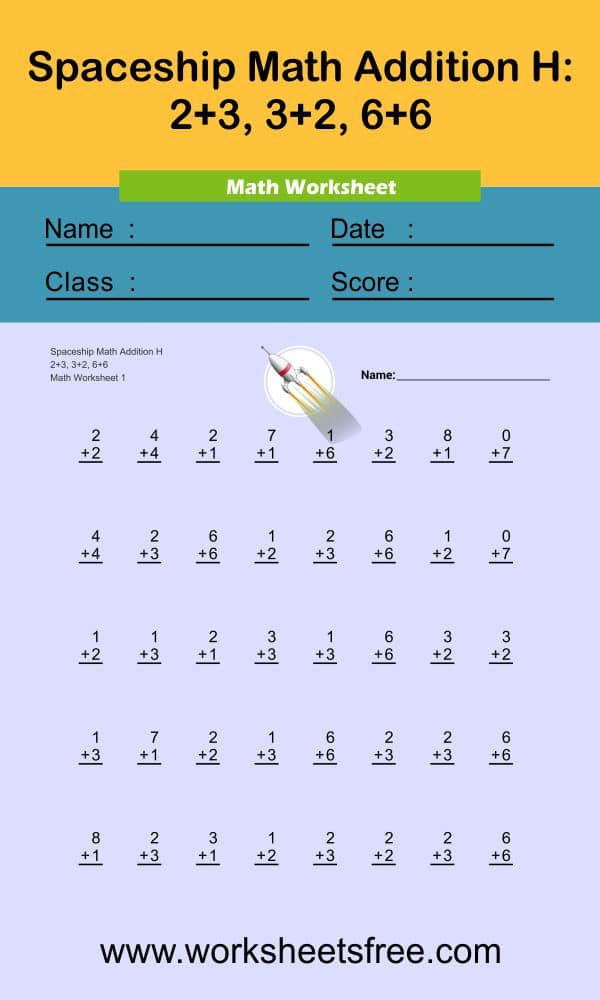 Spaceship Math Addition H 1