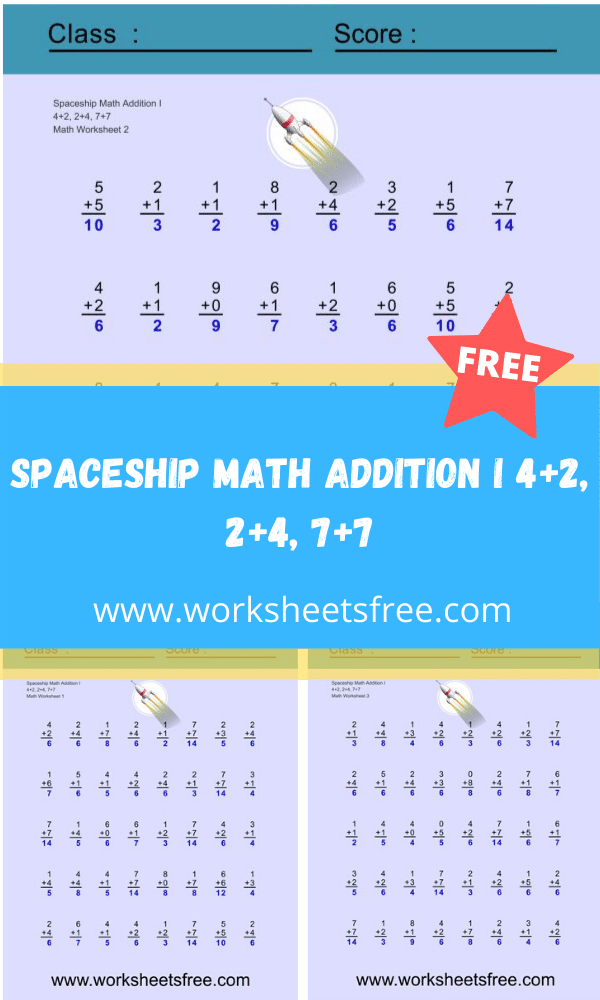 Spaceship Math Addition I
