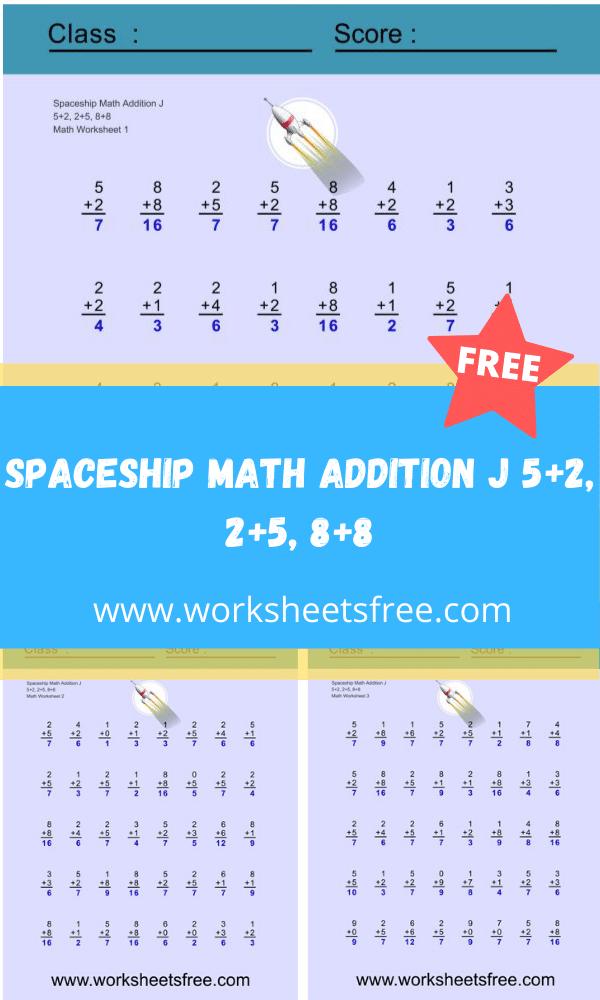 Spaceship Math Addition J