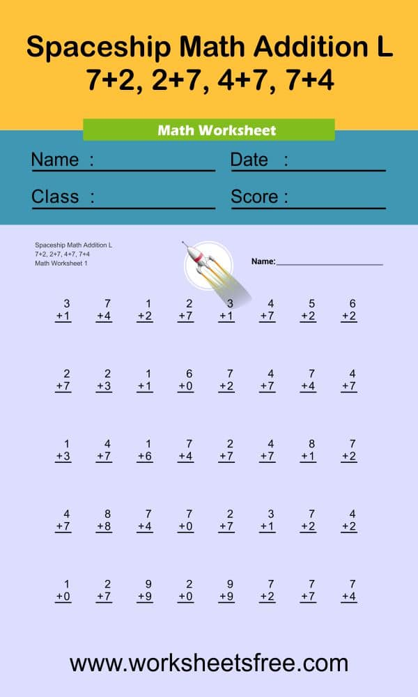 Spaceship Math Addition L 1