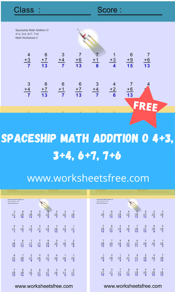 Spaceship Math Addition O
