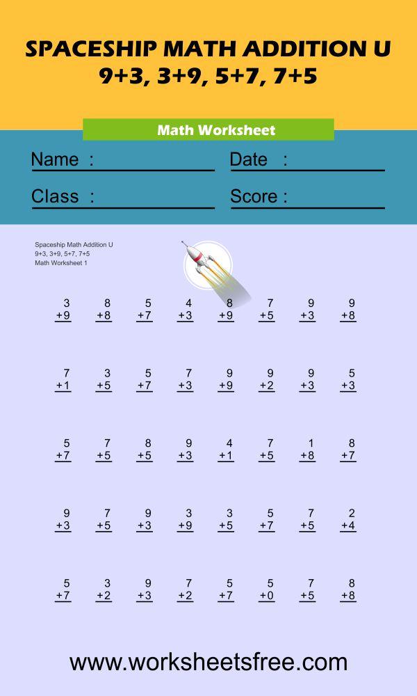Spaceship Math Addition U 1