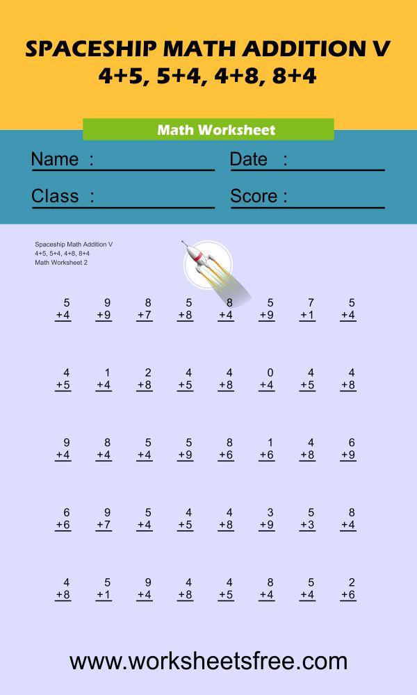 Spaceship Math Addition V 2