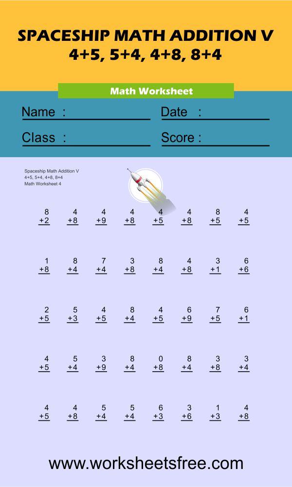 Spaceship Math Addition V 4