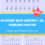 Spaceship Math Addition Y