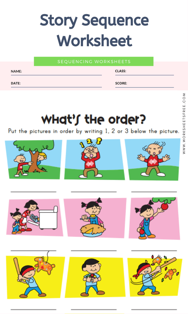Story Sequence Worksheet