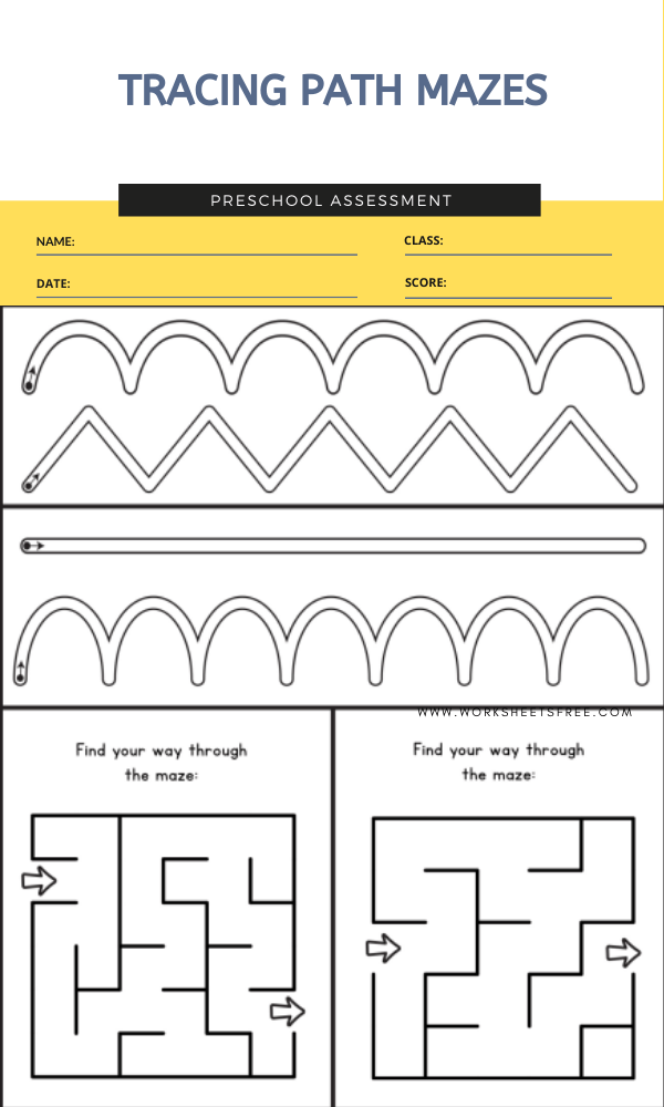 TRACING PATH MAZES