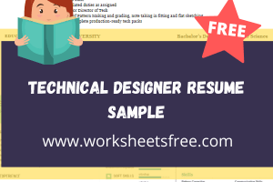 Technical Designer Resume Sample