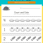 Thanks giving Count and Color Worksheet