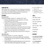 Web Developer Resume Sample 1
