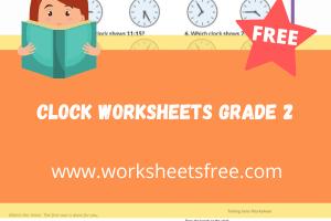 clock worksheets grade 2